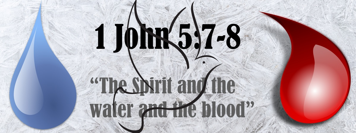 "1 John 5:7-8: ""The Spirit and the water and the blood"""